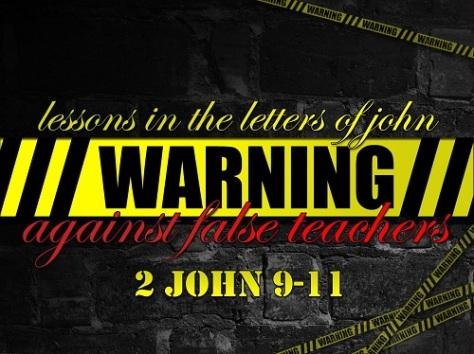 Warning Against False Teachers